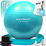 Gymnastikball Mind Body Future. Swiss Ball perfekt als Sitzball u. Therapieball. fr Yoga, Pilates,...