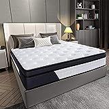 Homemaxs Einzelmatratze, Gel-Memoryschaum-Matratzen, Einzelbett mit 7-Zonen-unabhängigem...
