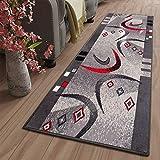 Tapiso Dream Lufer Teppich Flur Brcke Modern Streifen Bumerang Linien Abstrakt Muster in Grau...
