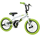 deTOX 16 Zoll BMX Freestyle Kinder BMX Anfnger ab 115 cm 5J, Farbe:Weiss/grn