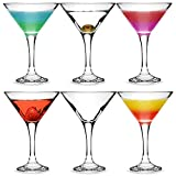 bar@drinkstuff Martini-Cocktailgläser, 175 ml, 6 Stück, in Geschenkbox