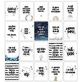 HERZ & PAPIER Set mit 20 Postkarten ● Grußkarten mit Sprüchen und Zitaten zum Thema Freundschaft...