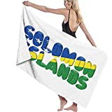 Unisex Salomonen Flagge Stolze Badetuch Adult Soft Microfiber Printed Beach Towels Reisetuch