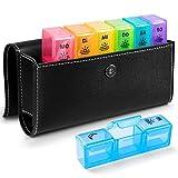 Tablettenbox 7 Tage Deutsch - BUG HULL Medikamentenbox Pillendose Morgens Mittags Abends Reise mit...