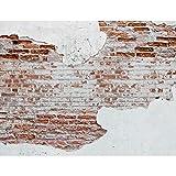 Fototapete Steinwand 352 x 250 cm Vlies Tapeten Wandtapete XXL Moderne Wanddeko Wohnzimmer...