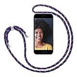 ZhinkArts Handykette kompatibel mit Apple iPhone 6 / 6S - Smartphone Necklace Hlle mit Band - Schnur...