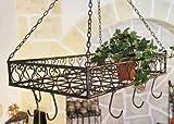 DanDiBo Topfhänger Cocina Pfannenhänger 65 cm Deckenregal Hängeregal Hänger Wurstkrone