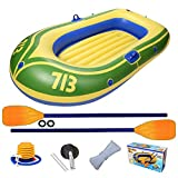 Kinder Schlauchboot Aufblasbar, Heavy Duty 2 Personen Gummiboot Kinder , Kinderboot Aufblasbar ,...