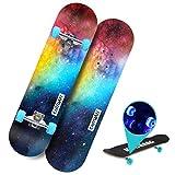 YF-Barstool 80x20cm Mini Maple Cruiser Graphic Anfänger Jugendliche Kinder Skateboard, mit bunten...