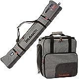 Brubaker Kombi Set Carver Performance - Skisack 190 cm und Skischuhtasche für 1 Paar Ski + Stöcke...