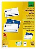 SIGEL LP850 Visitenkarten 3C, 100 Stück (10 Blatt), beidseitig bedruckbar, hochweiß, glatter...