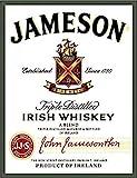 Jameson Irish Whiskey Vintage Metall-Blechschild Wandschild Poster Café Bar Pub Bierwand...