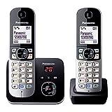 Panasonic KX-TG6822GB DECT Schnurlostelefon mit Anrufbeantworter (strahlungsarm, Eco-Modus, GAP...