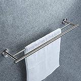 Doppelter Handtuchhalter, Dailyart Badezimmer Handtuchstange Bad Ohne Bohren für Wandmontage -...
