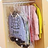 VKTY Vakuumbeutel zum Aufhängen, platzsparend, für Kleidung, Anzüge, Kleider, Mäntel oder...