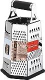 [6 Seite ] Reibe - Edelstahl Vierkantreibe - 24 cm Höhe - Lebensmittelreibe für Hart- &...