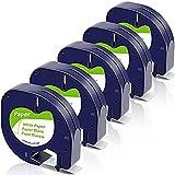 Fimax Kompatibel Etikettenband als Ersatz für Dymo Letratag lt-100h lt100h lt100t lt110t XR QX50...