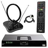 netshop 25 Xoro HRT 8720/8724 Full HD HEVC DVB-T/T2 Receiver + 30 dB ANTENNE (H.265, HDTV, HDMI,...
