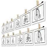 LeTOMA - Fotoseil 2x80 cm mit 2x7 Klammern inklusive patentierter Seilhalter ideal um Fotos und...