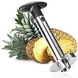 com-four® Ananas-Schneider 3 in 1 - Ananas Schäler aus Edelstahl, spülmaschinengeeignet -...