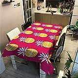 CCBAO Obst Ananas Muster Polyester wasserdichte Küchentischdecke Rechteckige Tischdecke...