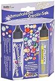 Kreul 49605 - Schmucksteine Kreativ Set, 500 bunte, runde Steine, 29 ml Schmucksteinkleber, 29 ml...