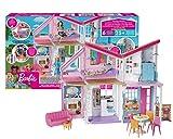 Barbie FXG57 - Malibu Haus Puppenhaus 60 cm breit mit +25 Zubehörteile, Puppen Spielzeug ab 3...