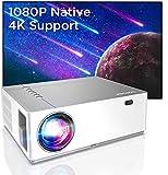 BOMAKER Beamer Full HD 4K, Native 1080P 7200 Beamer, 3D+5D Heimkino Beamer mit ±50°Elektronische...