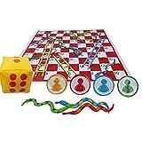 Bettying Großes Snake & Ladder Brettspiel Set Aufregendes Brettspiel...