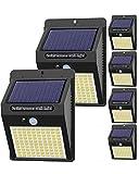 【6 Stück】Solarlampen für Außen mit Bewegungsmelder, [ 2020 Version] Hepside 100 LED...
