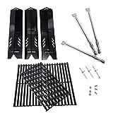 BBQration PPA581 3 Stück Porzellan-Stahl-Heizplatten, 3 Stück CE4010 Porzellan-Elektroden und...