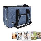WAWZNN Large-Capacity Haustiere Transportbox, Tragbar Faltbar Hundebox Katzentransporttasche mit...