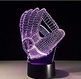 Touch Farbwechsel 3D Led Nachtlicht Stimmungslampe Baseballhandschuh Acryl Schlafzimmer Beleuchtung...