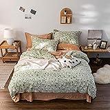 bettbezug 140x200,Herbst und Winter Plus Fleece vierteilige doppelseitige Fleece-Bettwäsche mit...