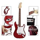 Akustische Gitarre 38-Zoll-6 Saiten E-Gitarre mit Gitarrentasche/Saiten/Rocker/Wrench/Picks/Strap...
