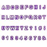 YOUYIKE 40 Teiliges Buchstaben Ausstecher Set, Ausstechformen für Buchstaben, DIY Kuchen Ausstecher...