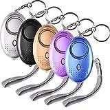 SUNMAY Taschenalarm, 5 Stücke 140db Personal Alarm Schlüsselanhänger mit Taschenlampe, Panikalarm...