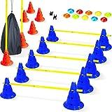 BAYTIZ   Hürden Set Verstellbar - Agility Zubehör für das Training - Trainingsgeräte für...