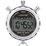 LAOPAO Digitale Stoppuhr, Handheld Großes LCD-Display Wasserdicht täglich Alarm 1/100 Sekunden...