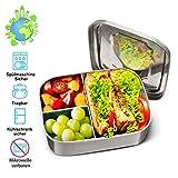 Charminer Lunchbox Edelstahl, Bento Box Edelstahl,Metal Dense Lunchbox 1000ML mit Einteiler und 3...