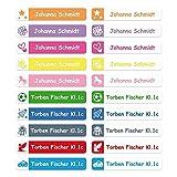 foliado® Namensaufkleber Stifteaufkleber Kinder Etikett 40x7mm Sticker Namensetikett Schule Kita...