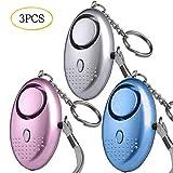 Taschenalarm, Persnlicher Alarm, 3 Stck 140 dB Safesound Personal Alarm mit Taschenlampe...