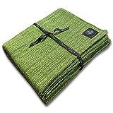 Craft Story Decke YARA I Uni apfelgrün aus 100% Baumwolle I Tagesdecke I Sofa-Decke I...