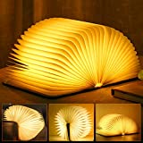 LED Buch Licht Faltbare Buchlampe Licht Buchlampe LED Stimmungsbeleuchtung USB Aufladbare...