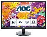 AOC E2270SWHN 54,6 cm (21,5 Zoll) Monitor (VGA, HDMI, TN Panel, 1920 x 1080, 5ms Reaktionszeit, 60...