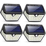 Solarlampen für Außen mit Bewegungsmelder,【2019 Neuestes Modell 60 LED-800 Lumen】iPosible...