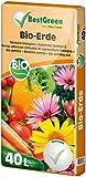 BestGreen Bio-Erde 40 L - torfreduzierte Universalerde - für Zierpflanzen, Gartenpflanzen und...