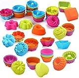 XinYiC Silikon-Backformen, antihaftbeschichtet, für Muffins, Muffins, 36 Stück