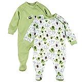 Bornino Schlafoverall (2er-Pack)- Baby-Pyjama mit seitlichem Reißverschluss - Schlafanzug aus...