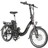 AsVIVA E-Bike 20' Klapprad, Elektrofahrrad (15,6Ah Akku), 7 Gang Shimano Kettenschaltung, Heckmotor,...